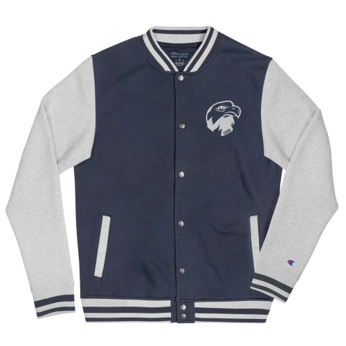 Eagle Head Embroidered Champion Bomber Jacket