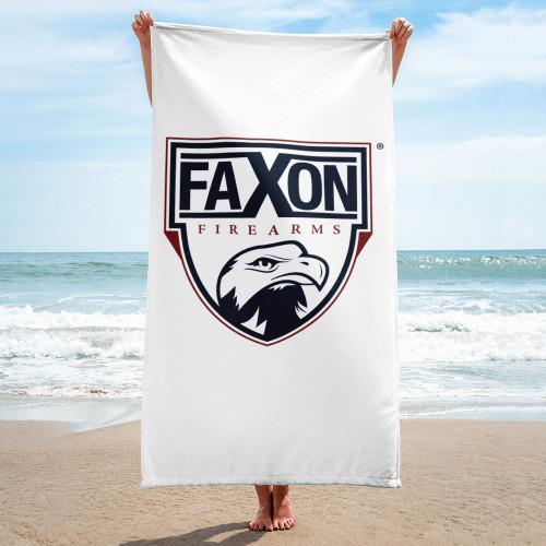 Faxon Firearms Classic Logo Beach Towel   White