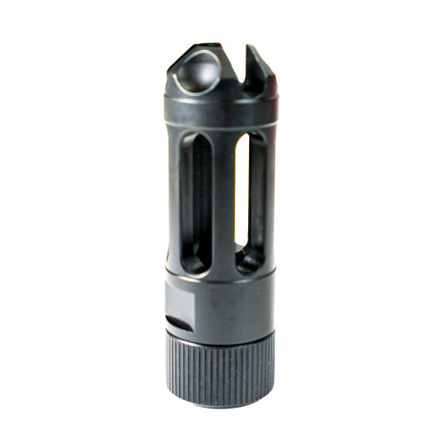 Faxon 9mm MuzzLok Ported Flash Hider, Steel, QPQ Nitride