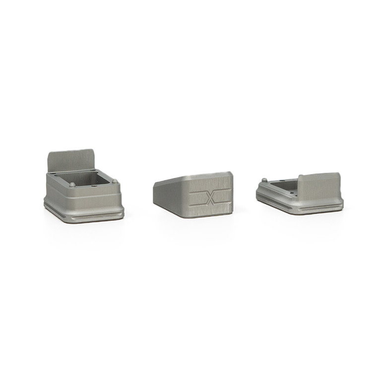 Faxon Modular Mag Extension for G19, Combo, Gray