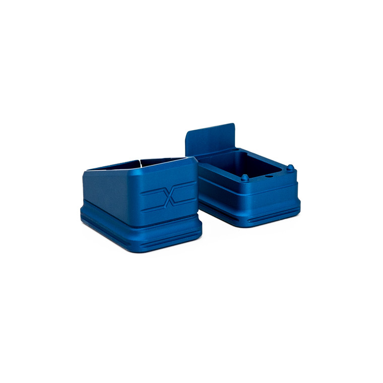 Faxon Modular Mag Extension for G19, Combo, Blue