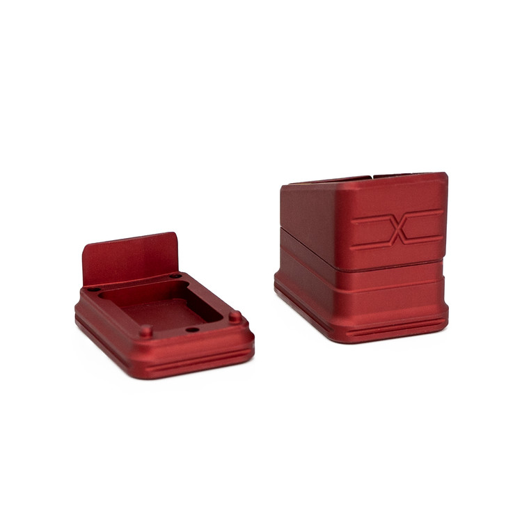 Faxon Modular Mag Extension for G19, Combo, Red