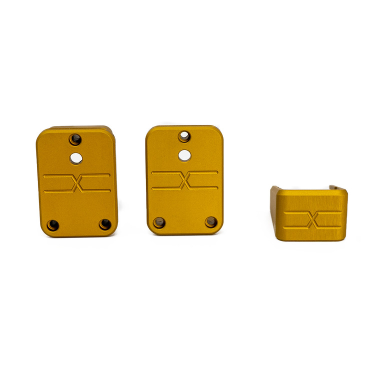Faxon Modular Mag Extension for G19, Combo, Gold