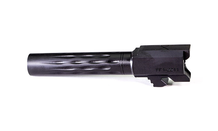 Faxon Flame Fluted Barrel, Non-Threaded For G19