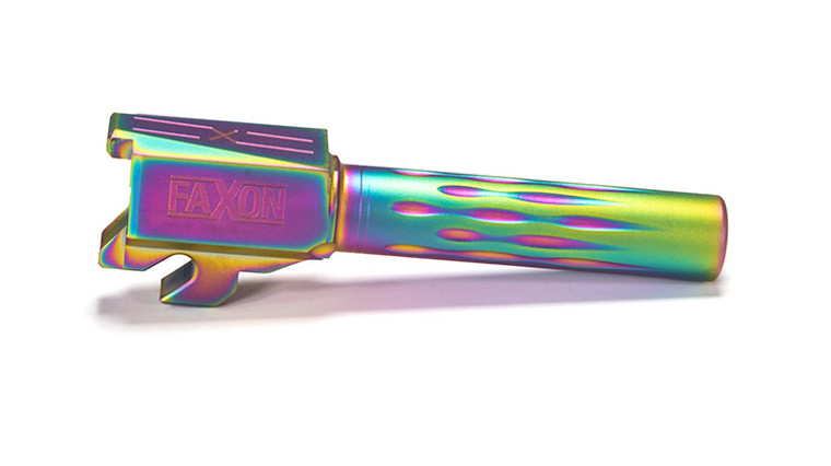 Faxon Sig P320 Compact Flame Fluted Barrel, Non-Threaded, Chameleon PVD