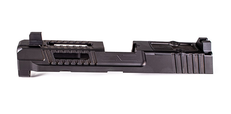 Hellfire Slide for M&P Full Size w/ Multi Optic Cut- Assembled, Suppressor-Height Sights