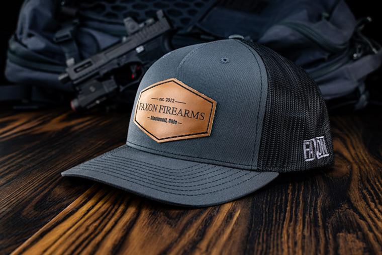 Faxon Charcoal/Black Snapback Hat