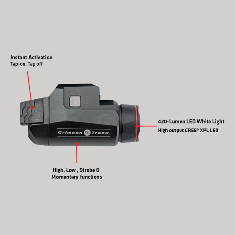 Crimson Trace CMR-208 RAIL MASTER® UNIVERSAL TACTICAL LIGHT