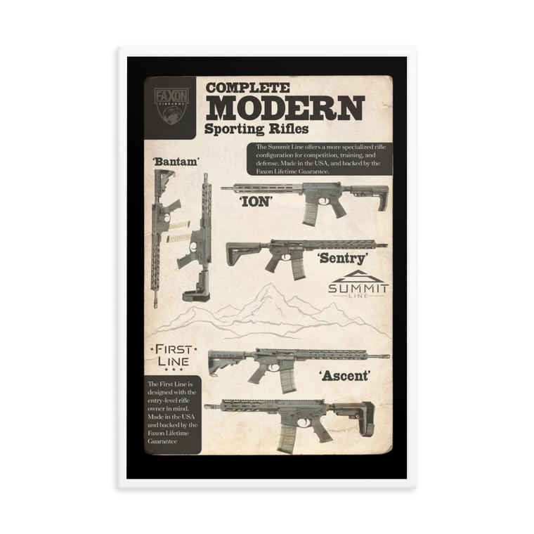 Vintage Modern Sporting Rifle Framed poster
