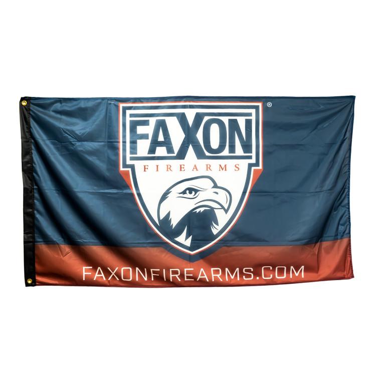 Faxon 3'x5' Shield Logo Flag - Blue & Red