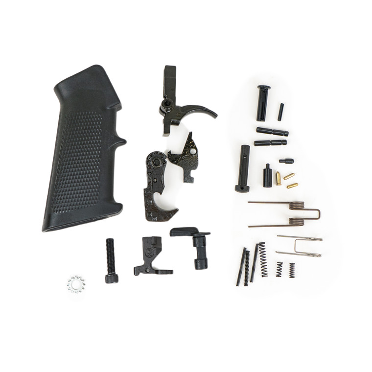 9mm LOWER PARTS KIT, NO TRIGGER GUARD, no mag catch parts