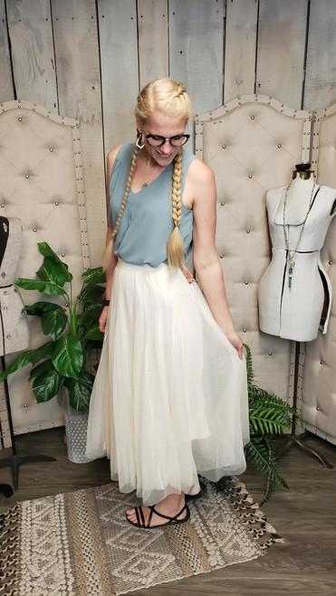 Royal Tulle Skirt-Ivory