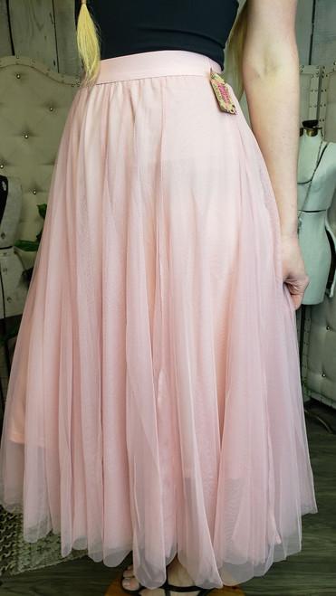 Royal Tulle Skirt-Blush