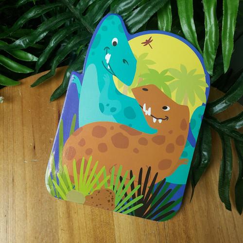 Pocket Doodle Pad-Teal Dino