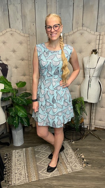 Blue Chicken Dress