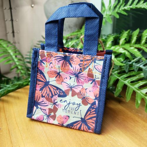 Tiny Reusable Gift Bag-Enjoy the Moment