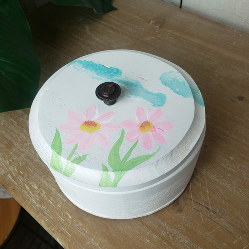 Hand Painted Box-In the Garden