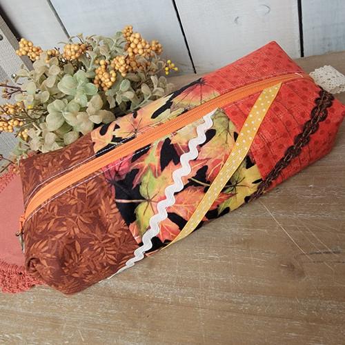 Boxy Zipper Bag-Fall Leaves