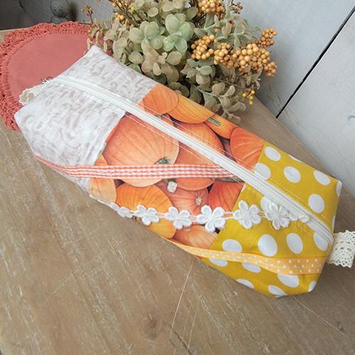 Boxy Zipper Bag-Pumpkins
