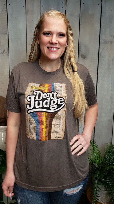 HIS Word T-shirt Don't Judge