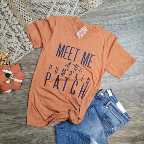Meet Me At The Pumpkin Patch Tee-Heather Autumn