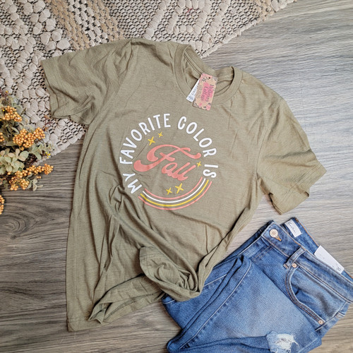 My Favorite Color Is Fall- Heather Olive