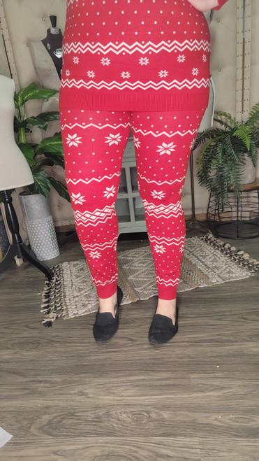 Curvy Christmas Leggings