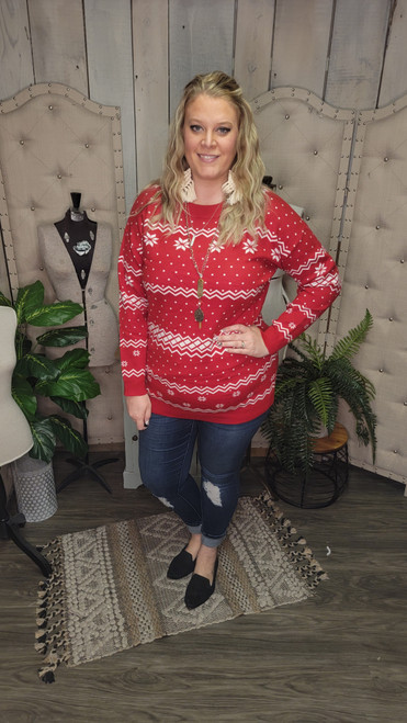 Curvy Christmas Sweater