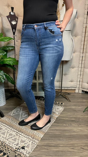 Mid Rise Perry Ankle Skinny