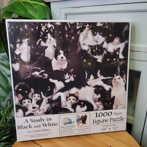 A Study in Black and White 1000 Piece Puzzle