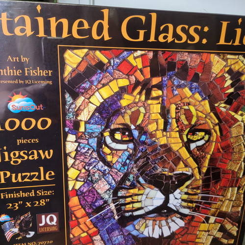 Stained Glass: Lion 1000 Piece Puzzle