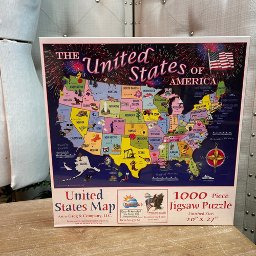 United States Map 1000 Piece Puzzle