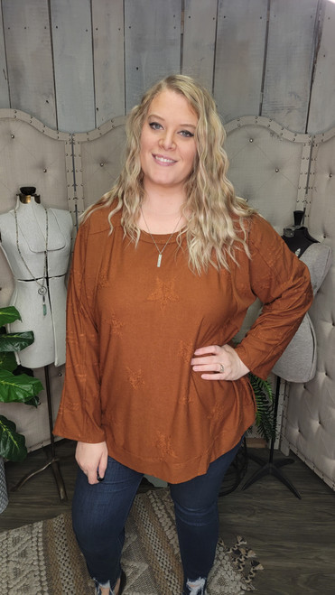 Curvy Fall For The Stars Top