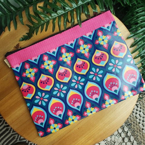 Boho Print Zipper Bag