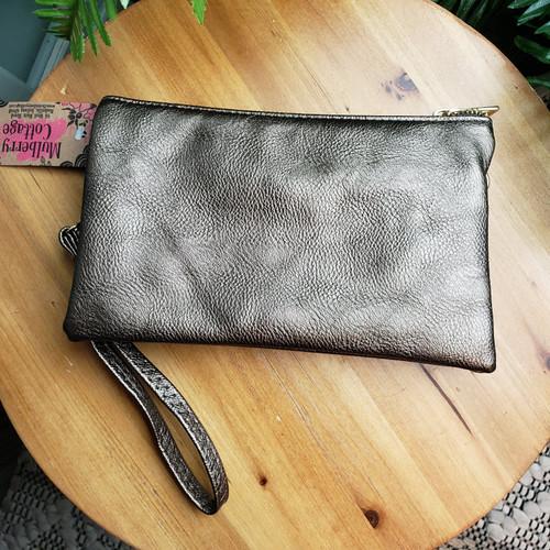 Basic Cross Body Bag - Dark Silver