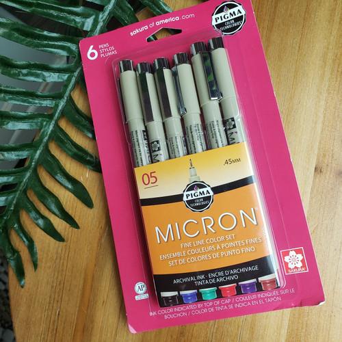 Micron Fine Line Set of 6 - Color Set