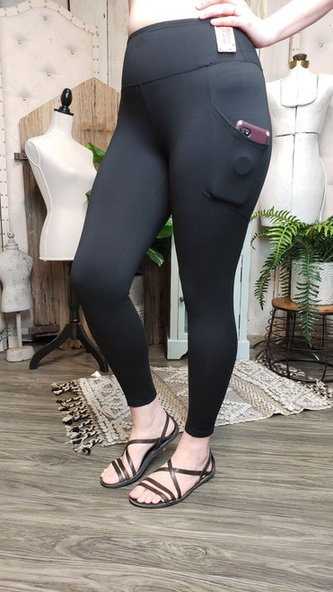 Buttery Soft Yoga Pocket Legging - Black