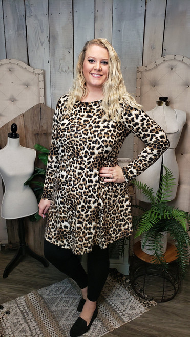 Curvy Cheetah Sweater Dress