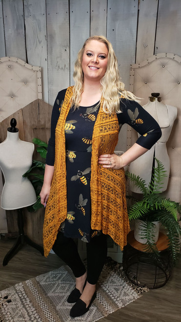 Curvy Big Bee Sweater Dress