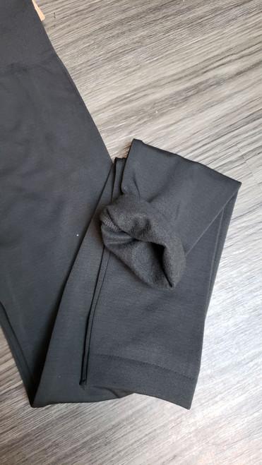 Fleece Lined Leggings-Ash Grey