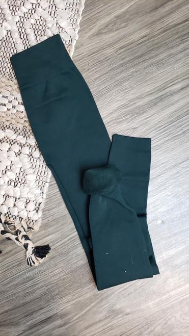 Fleece Lined Leggings-Hunter Green