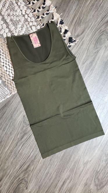 Basic Tank-DK Olive