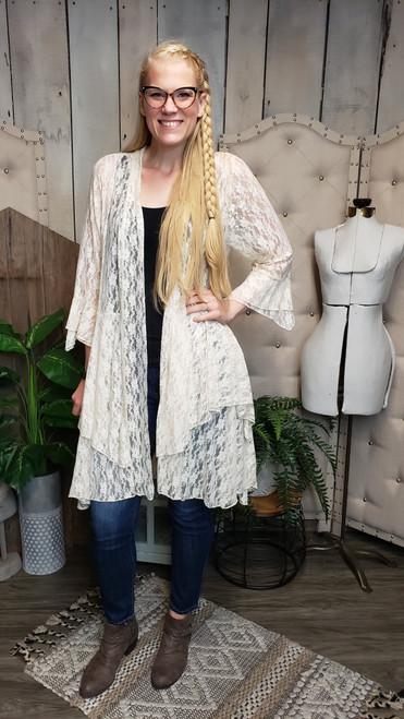 Romantic Lace Jacket - Cream