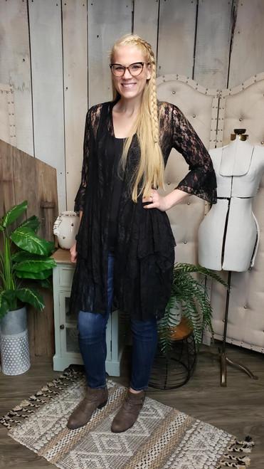 Romantic Lace Jacket - Black