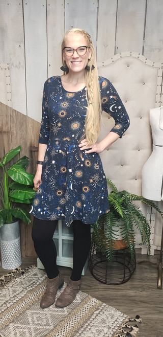 Galaxy Sweater Dress