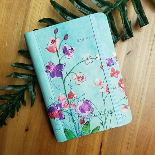 Address Book-Fuchsia Blooms