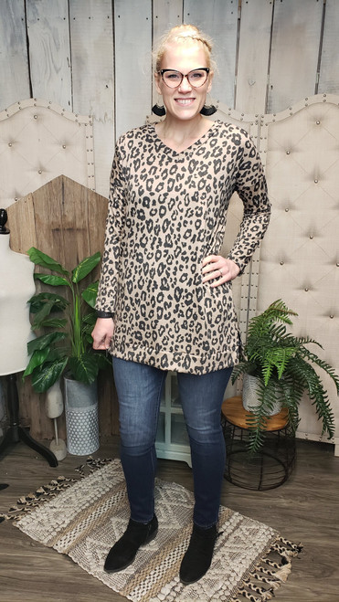 Leopard Long Sleeve Tunic