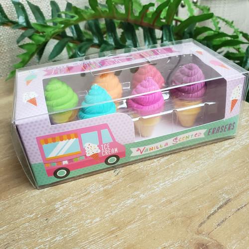 Petite Sweets Ice Cream Shoppe-Vanilla Scented Erasers