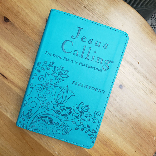 Jesus Calling Teal Leather