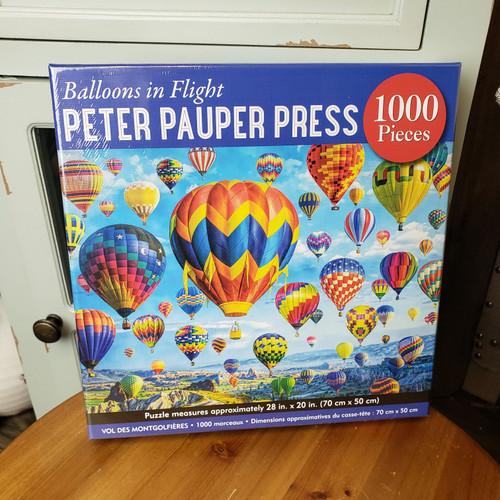 1000 Piece Puzzle-Balloons in flight